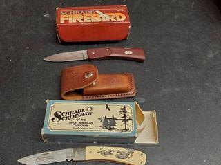 2  Shrade Knives