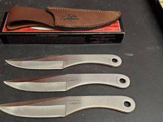 3  Hibben Throwing Knives
