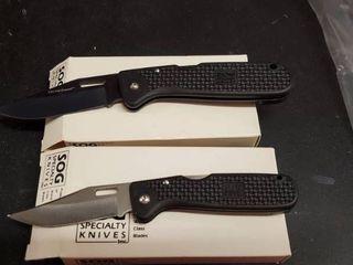 2  SOG Folding Knives