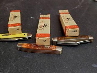 3  Camillus Folding Knives