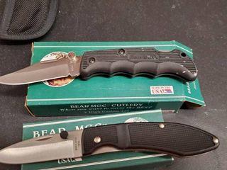 2  Bear Folding Knives