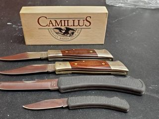 4  Camillus Folding Knives