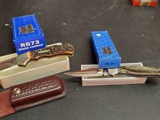 2  Rigid Folding Knives
