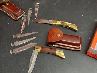 2  Case Pocket Knives With Interchangeable Blades