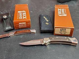 2  Buck Pocket Knives