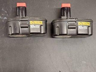 2  18V Dewalt Drill Batteries