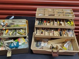 2  Tackle Boxes With Tackle