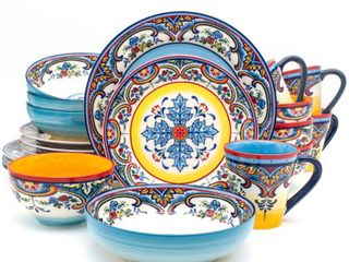 Euro Ceramica Zanzibar Stoneware Dinnerware Set No Bowls
