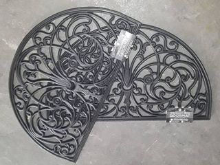 Pair of Achim Wrought Iron Rubber Door Mats  18  x 30