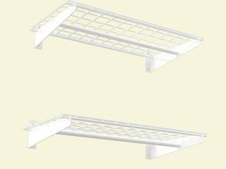 Wall Shelf in White   Set of 2