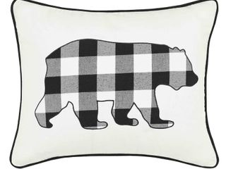 Black Cabin Plaid Bear Throw Pillow   Eddie Bauer