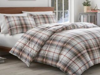 Eddie Bauer Classic Plaid Comforter Set King Size