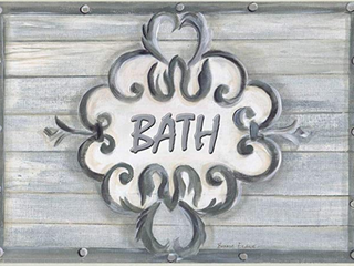 Stupell Industries Bath Gray Bead Board