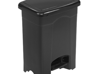 Safco  SAF9710Bl  Plastic Step on 4 Gallon Receptacle  1  Black