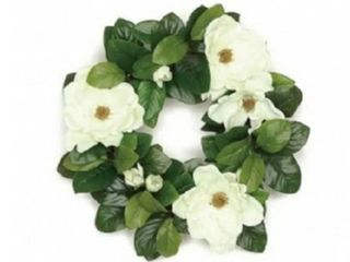 20  Southern Charm Magnolia and leaf Wreath