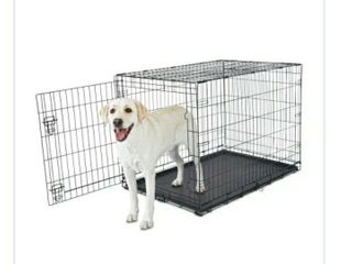 large Black dog secure Crate w28 h30 05