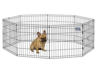 Midwest 24 W x 24 H Foldable Metal Exercise Pet Playpen without Door