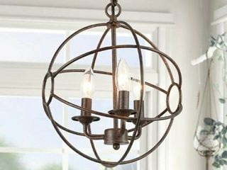 Carbon loft Ghaffari Brown Modern Mini Chandelier with 3 lights Pendant lighting