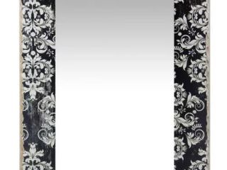 French Country Damask 23 5  X 15 75  Wall Mirror Black   Infinity Instruments