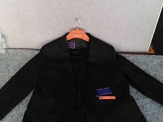 3 pc Giorgio Fiorelli Men s Black Vested Suit 46 l