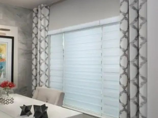 Sheer Zebra Roller Shade in Grey  36x64