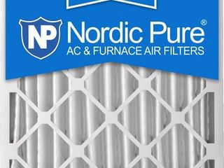 Nordic Pure 20x20x4M12 6 MERV 12 Pleated Air Filters  20 x 20 x 4 in    Pack of 6