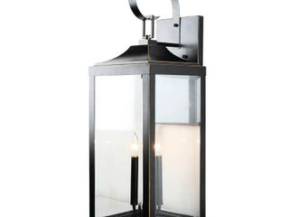 3 light Outdoor Wall lantern in Imperial Black