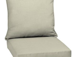leala Texture Deep Seat Outdoor Cushion Set Tan   Arden Selections