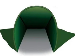 The WallUp Nylon Outdoor Privacy Screen and Wind Protector   Green