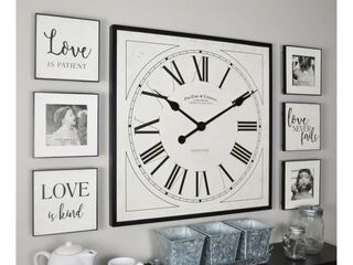 FirsTime   Co  love Frame Gallery Set Clock