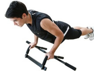 Actionline KY 72020 Upper Body Doorway Workout Bar with Abdominal Straps