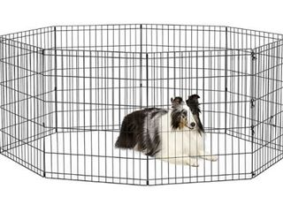 World Pet Products Foldable Exercise Pet Playpen  Black  Medium 24