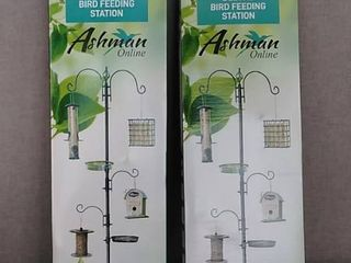 ASHMAN Black Deluxe Bird Feeder Station Pack of 2