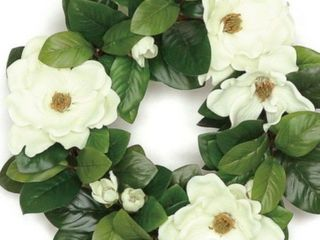 20 in southern charm magnolia and leaf wreath