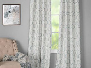 Closeout  Miller Curtains Alain 50  x 63  Geo Print Energy Efficient Window Panel Set of 2