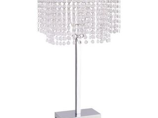 Crown Mark Chrome and Crystal Chandelier Floor lamp