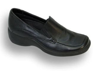 24 HOUR COMFORT Riley Women Extra Wide Width leather Step in loafer size 10 5 extra wide