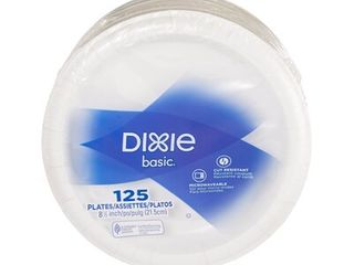 Dixie  DBP09W  8 5  Basic Paper Dinnerware Plates by GP PRO  Georgia Pacific  White  125Count