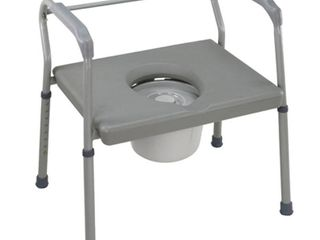 Duro Med DMI Heavy Duty Steel Commode with Platform Seat