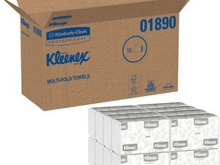 Kimberly Clark Kleenex 01890 1 Ply Multi Fold Towel  9 25 64  length x 9 3 16  Width  White  16 Packs of 150