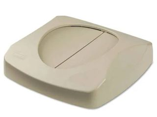 Rubbermaid Commercial Beige 16inch Square Swing Top lid for Untouchable Recycling Center