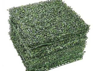 20 x20  Artificial Boxwood Hedge Mat with Cable Ties