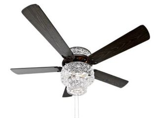 River of Goods 52  Bella Crystal lED Ceiling Fan with light