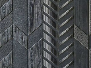 Premium Peel and Stick 3D Embossed Form Wall Panel  28 x28 pc   DarkGrey   10pc