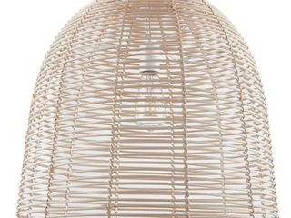 Southern Enterprises Reva 1 light Natural Finish Rattan Pendant lamp