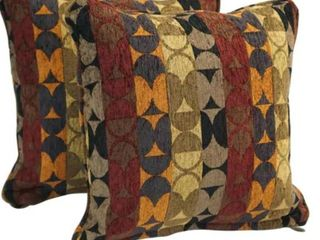 18 Inch Corded Patterned Jacquard Chenil Pillows