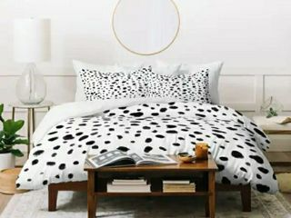 Deny Design Dalmation Duvet Cover and 2 pillow cases Queen 90x90  set of 3