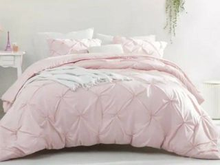 BYB Rose Quartz Pin Tuck Comforter Queen