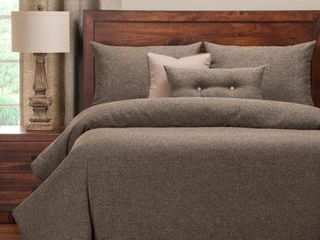 Pologear Belmont Greystone 6 Piece Cal King High End Duvet Set Bedding