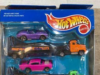 Hot Wheels long Haulers 2 Pack Pink 57 Chevy Purple 58 Corvette